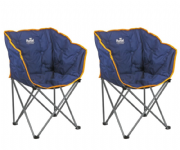 Royal Tub Camping Chair Blue (Twin Pack)